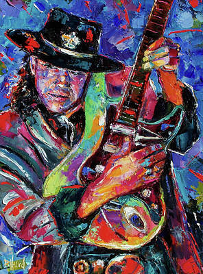 Rays Painting - Hat And Guitar by Debra Hurd