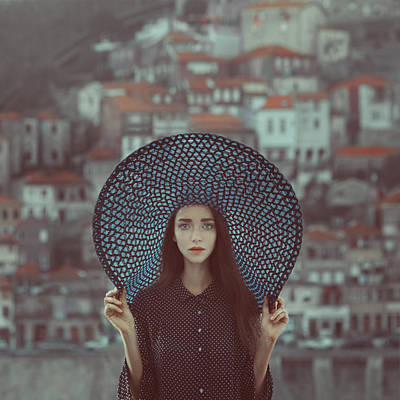 Blue Photograph - Hat And Houses by Anka Zhuravleva
