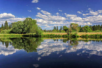 Photograph - Hat Creek Reflections by James Eddy