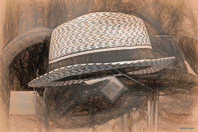 Digital Art - Hat In A Window by Ken Morris