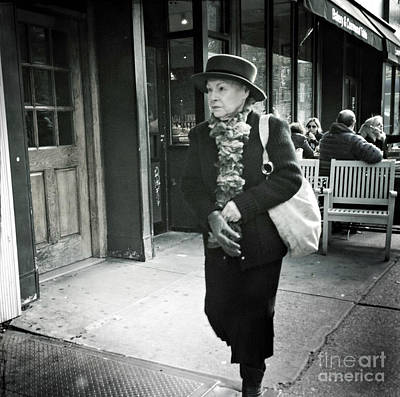Photograph - Hat Lady - People Of New York City by Miriam Danar