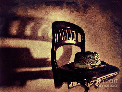 Photograph - Hat On Chair by Mark Miller