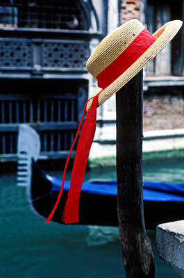 Hat On Pole Venice Print by Garry Gay
