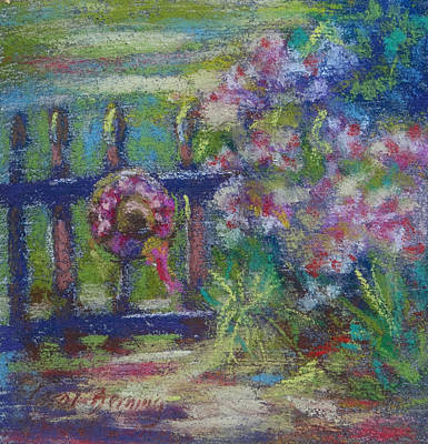 Painting - Hat On The Garden Gate by Carol Berning