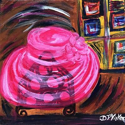 Painting - Hat On The Wine Rack  by Dottie Phelps Visker