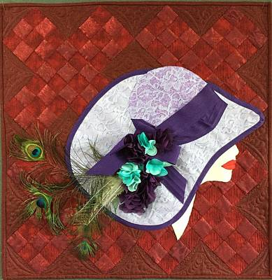 Tapestry - Textile - Hat Trick by Jo Baner