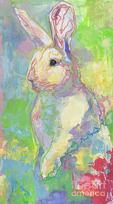 White Rabbit Painting - Hat Trick by Kimberly Santini