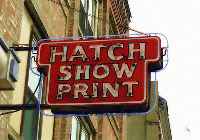 Downtown Nashville Painting - Hatch Show Print by Sandy MacGowan