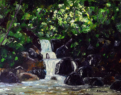 Painting - Hatcher Pass Creek by Burton Hanna