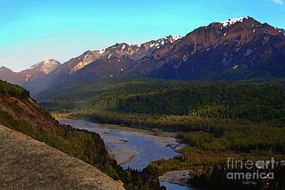 Matanuska Painting - Hatcher's Pass Alaska by Diane E Berry