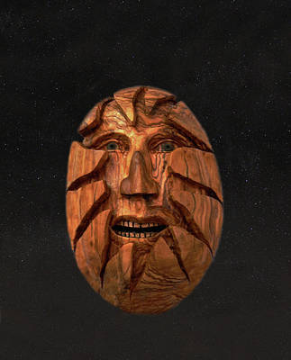 Mixed Media - Hatching  Easter Head by Eric Kempson