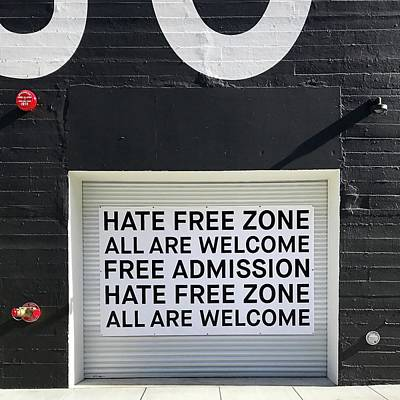 Wall Art - Photograph - Hate Free Zone by Julie Gebhardt