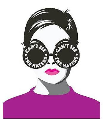 Twiggy Digital Art - Hater Shades by Snark Notes