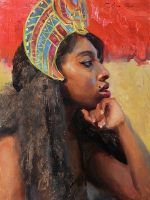 Portrait Painting - Hathor by Anna Rose Bain
