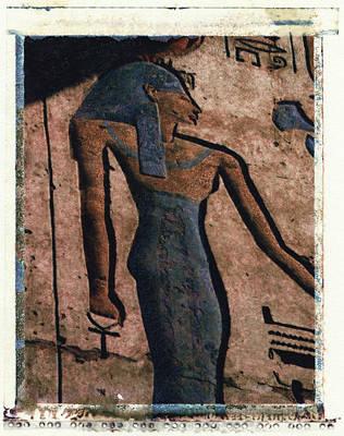 Hathor Holding The Ankh Sign Art Print by Bernice Williams
