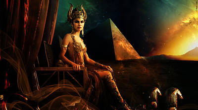 Hathor Digital Art - Hathor by Pharaoh Laboa