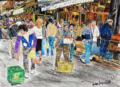 Israel Painting - Hatikva Market by Abraham Zimmermann