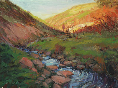 Countryside Painting - Hatley Gulch by Steve Henderson