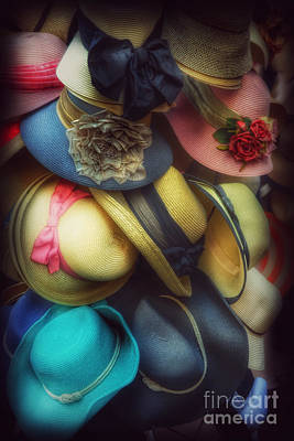 Photograph - Hats - A Cornucopia Of Color by Miriam Danar