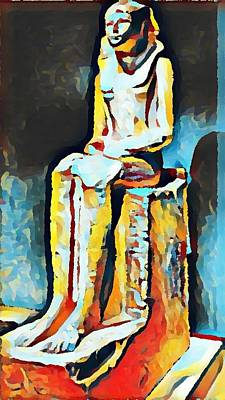Digital Art - Hatshepsut In The Metropolitan Museum Of Art Nyc by Paulo Guimaraes