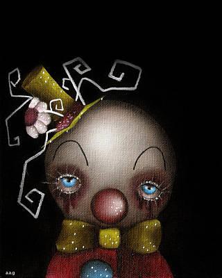 Hatter Clown Art Print