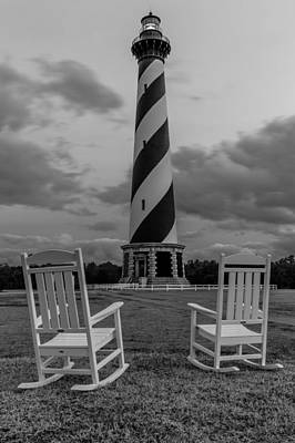 Clouds Photograph - Hatteras Light by Gary Migues