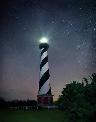 Photograph - Hatteras Spinning Light by Art Cole