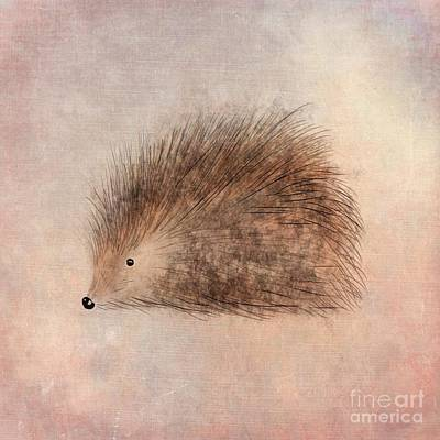 Animals Digital Art - Hattie Hedgehog  by John Edwards