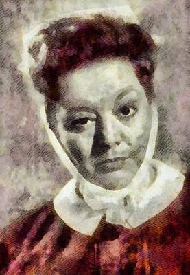 Hattie Jacques, Carry On Actress Art Print