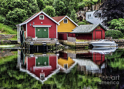 Photograph - Haugesund Reflections by Shirley Mangini