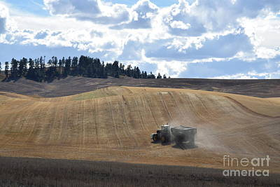 Hauling The Harvest From The Fields. Art Print