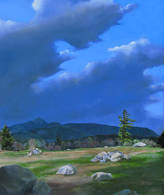 Mt Chocorua Painting - Mt Chocorua - Haunt Of The Red Coyote II by Carol Phenix