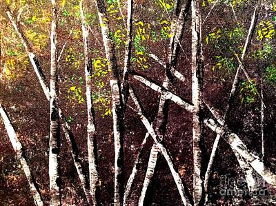 Painting - Haunted Birches by Denise Tomasura