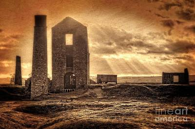 Photograph - Haunted Britain - Magpie Mine by David Birchall