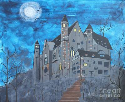Haunted Castle Painting - Haunted Castle by Jessica Williams