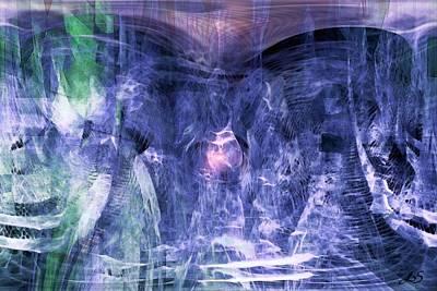 Haunted Caves Art Print by Linda Sannuti