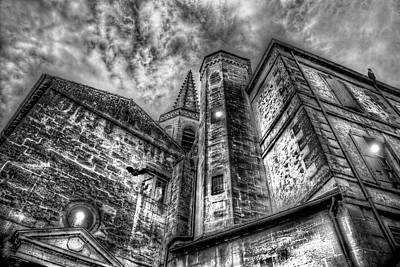 Photograph - Haunted Church In Black And White by Kay Brewer