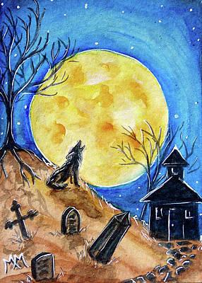 Haunted Evening Art Print by Monique Morin Matson