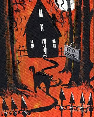 Haunted House Painting - Haunted Forest by Sylvia Pimental