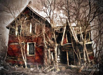 Haunted House Digital Art - Haunted by Hal Halli