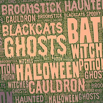 Haunted Digital Art - Haunted Halloween by Brandi Fitzgerald