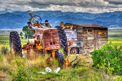 Skelton Photograph - Haunted Harvest by James Marvin Phelps
