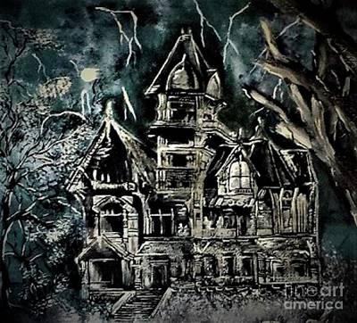 Painting - Haunted House by Crystal Schaan