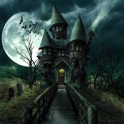Photograph - Haunted House by Daniel Sinoca