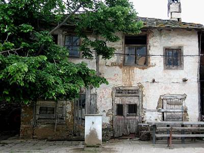Haunted House In Bulgaria Print by Valia Bradshaw