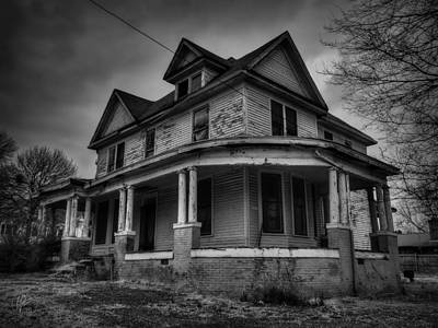 Photograph - Haunted House In Henning 001 by Lance Vaughn