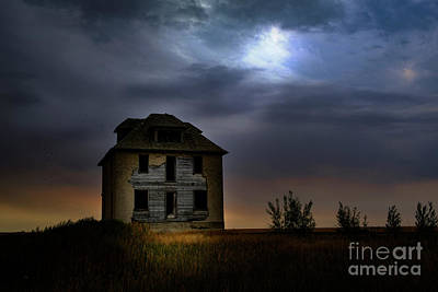 Digital Art - Haunted House by Jim Hatch