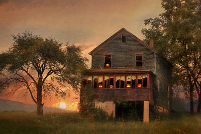 Haunted House Art Print by Lori Deiter