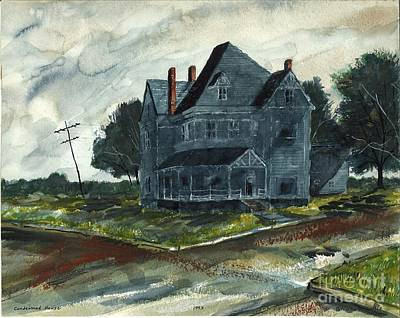 Painting - Haunted House by Patrick Grills