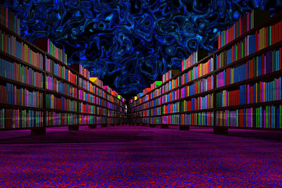 Photograph - Haunted Library by Mark Blauhoefer